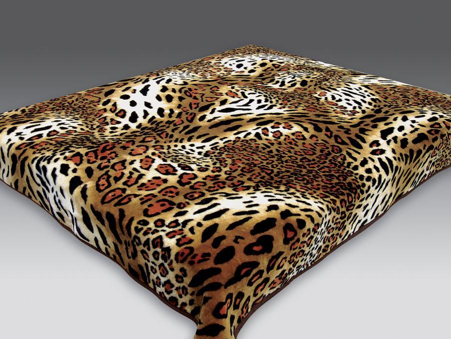 Плед бамбук цвет леопард